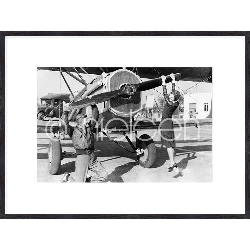 "Imagen con marco ""Historic plane II"" mit Marco de madera Quadrum"