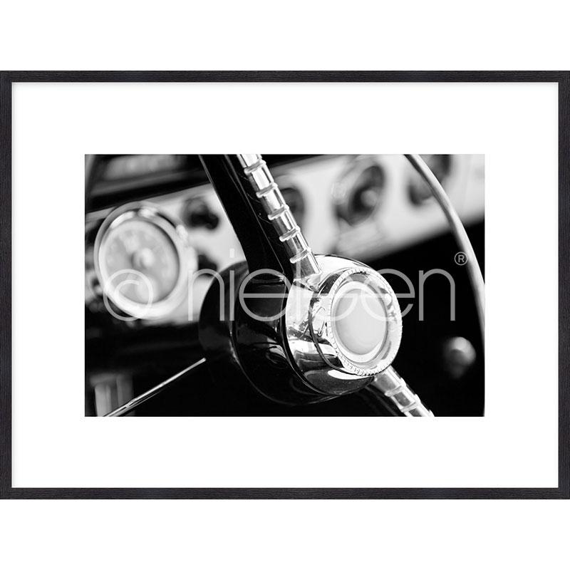 "Imagen con marco ""Interior of Classic Car"" mit Marco de madera Quadrum"