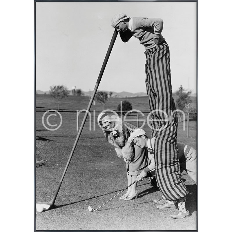 """Imagen con marco """"Golfer"""" con marco de alumino Alpha"""