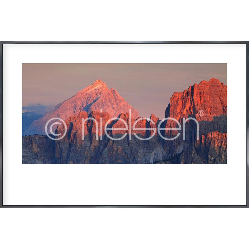 "Imagen con marco ""Dolomite Alps"" con marco de alumino Alpha"