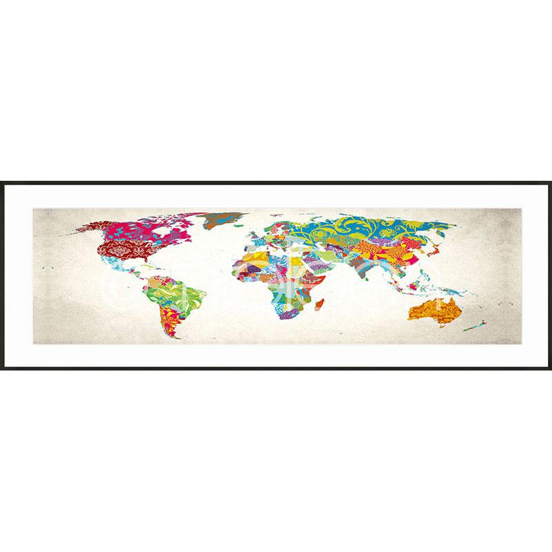 """Imagen con marco """"World Map"""" con marco de alumino C2"""
