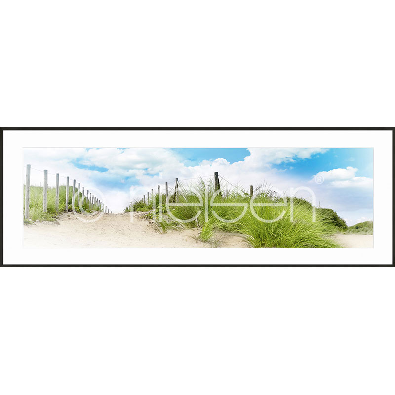 "Imagen con marco ""Dune"" con marco de alumino C2"