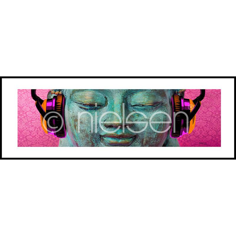 """Imagen con marco """"Buddha Chill"""" con marco de alumino C2"""