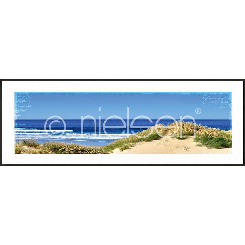 "Imagen con marco ""Dune Ocean"" con marco de alumino C2"