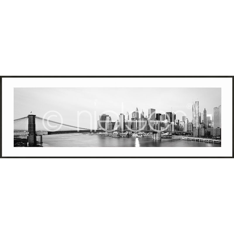 "Imagen con marco ""New York City Skyline"" con marco de alumino C2"