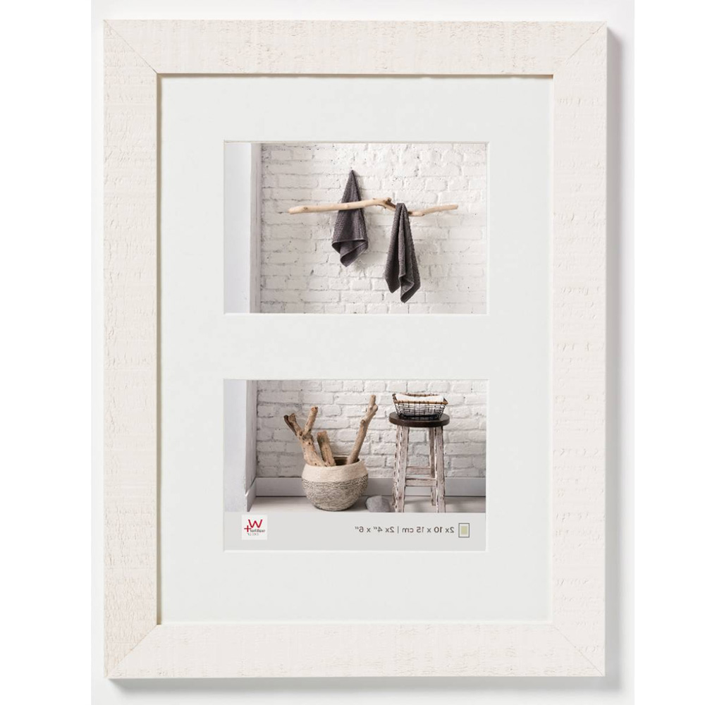 Marco galería para 2 Home 2x 10x15 cm   Polarweiß cm   vidrio standard