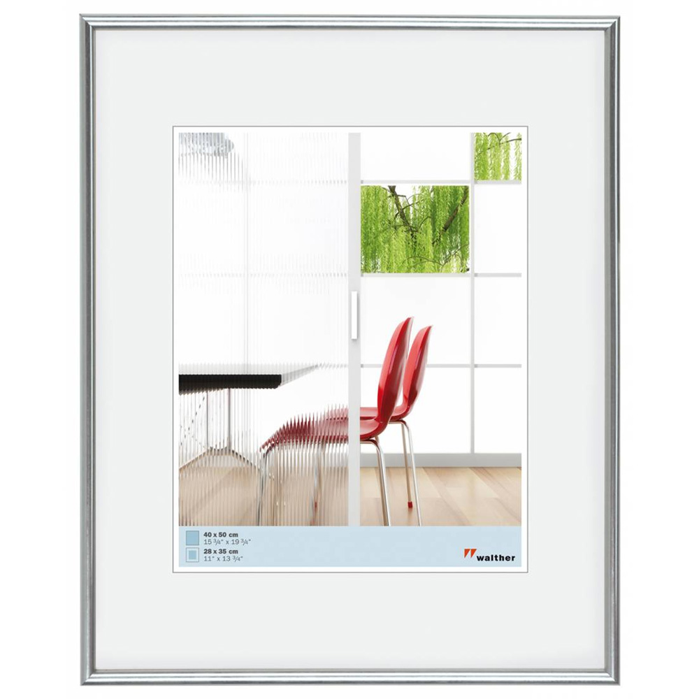Galeria plástico marco 10x10 cm plata