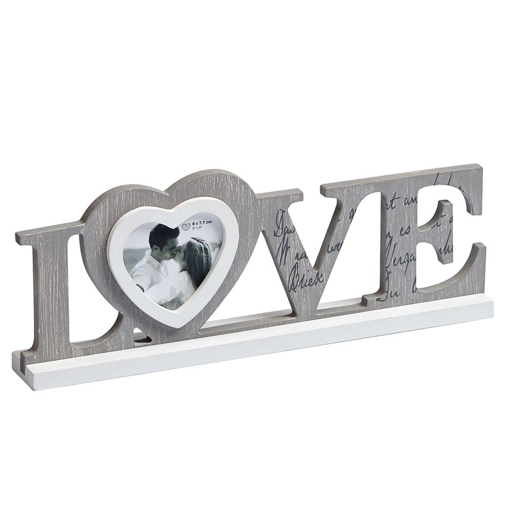 Marco de madera Love
